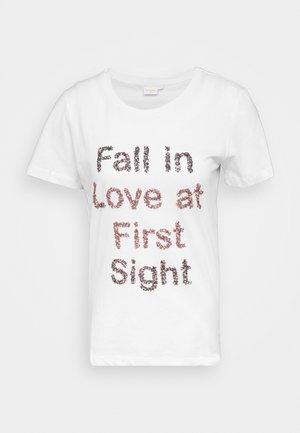 FLORISA - T-shirt med print - snow white