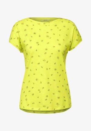 MIT MINIMAL PRINT - Print T-shirt - gelb