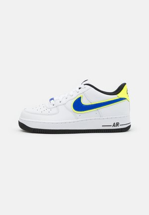 AIR FORCE 1 '07 UNISEX - Sneakersy niskie - white/racer blue/volt/vivid purple/black