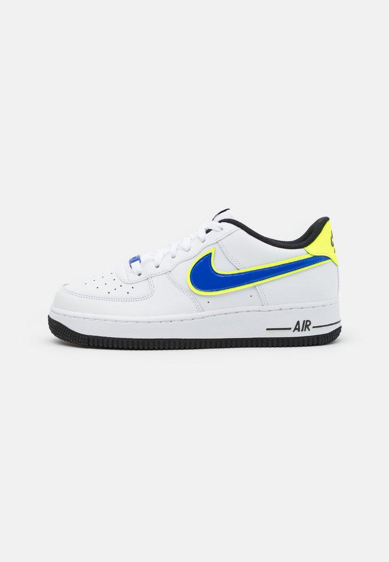 Nike Sportswear - AIR FORCE 1 '07 UNISEX - Sneakersy niskie - white/racer blue/volt/vivid purple/black