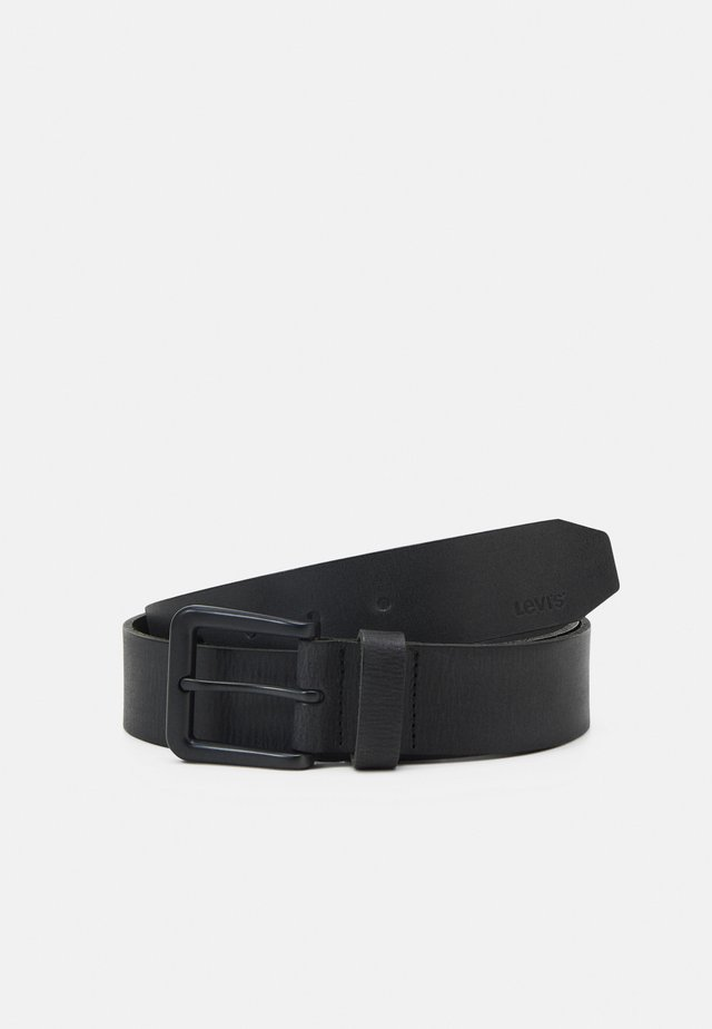 CLASSIC TUMBLED BELT - Pásek - regular black