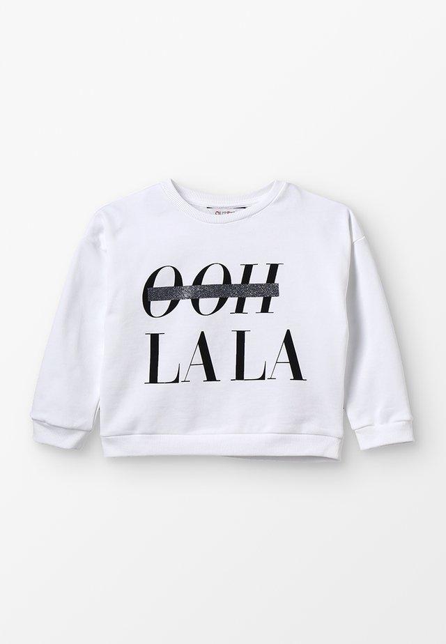 SLOGAN OH LA LA - Sweatshirt - white