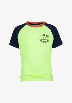 T-shirts print - chill yellow