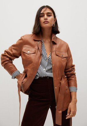 ISABEL - Leather jacket - brown