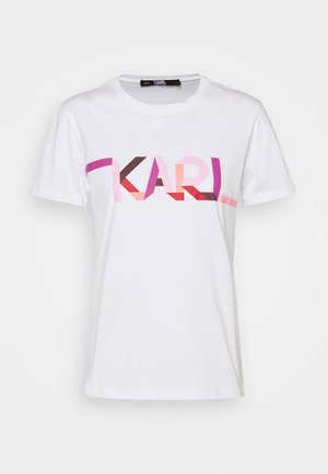 STRIPE LOGO - T-shirt imprimé - white