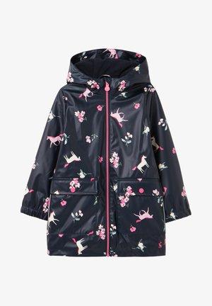 Waterproof jacket - marineblau einhorn floral