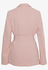 New Look - CREPE TIE BELT - Blazer - pale pink - 1