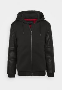Guess - TECHNICAL HOODIE BOM - Faux leather jacket - jet black - 4