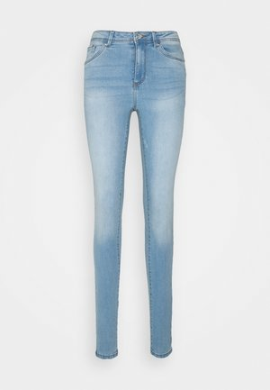 VMTANYA PIPING - Jeans Skinny Fit - light blue denim