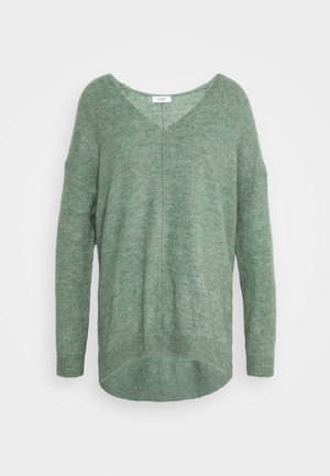 JDY ANNE V NECK  - Jumper - laurel wreath melange