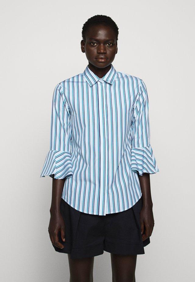Button-down blouse - azurblau