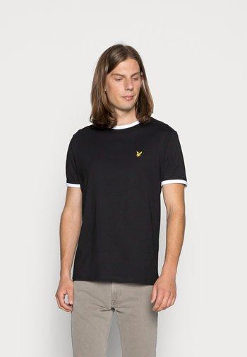 RINGER TEE - T-shirt - bas - true black/white