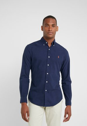 OXFORD SLIM FIT - Hemd - cruise navy