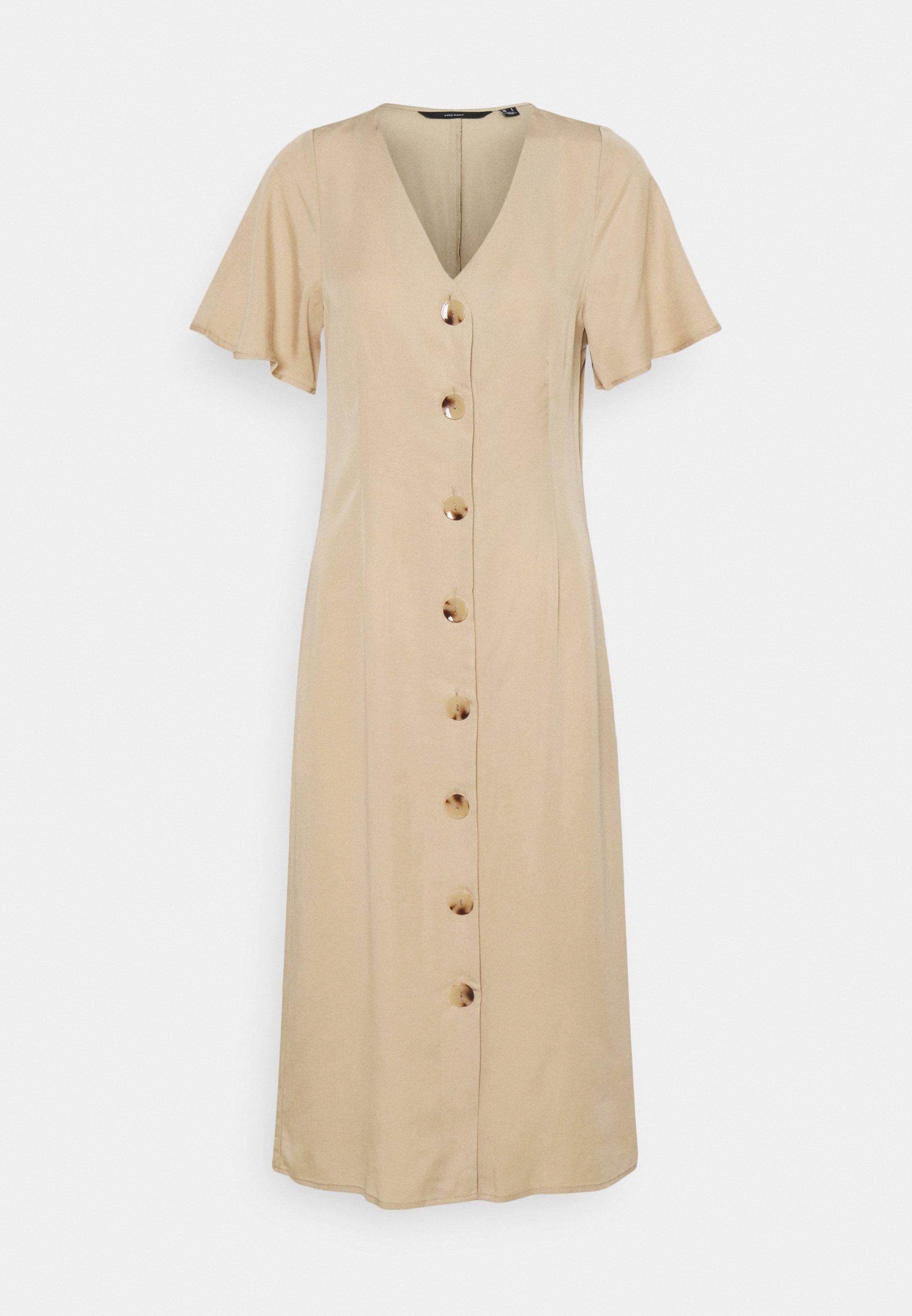 Women VMVIVIANA CALF DRESS  - Shirt dress