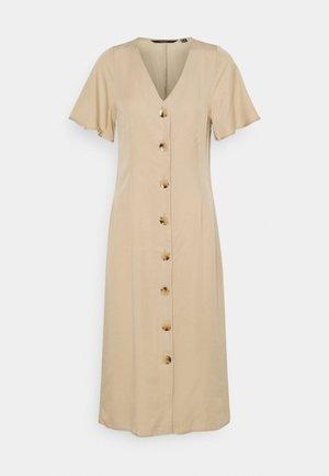 VMVIVIANA CALF DRESS  - Shirt dress - beige