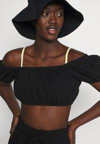Cotton On Body - OFF THE SHOULDER LONGLINE SHORT SET - Beach accessory - black - 4