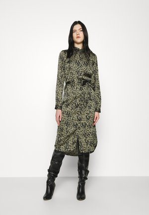 VMBECKY CALF DRESS - Shirt dress - beech/becky