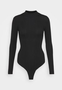Missguided Tall - EXTREME HIGH NECK BODY - Long sleeved top - black - 0