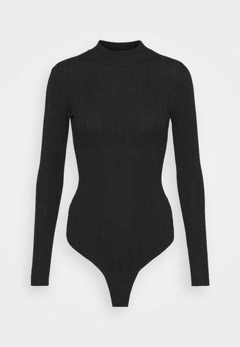 EXTREME HIGH NECK BODY - Topper langermet - black