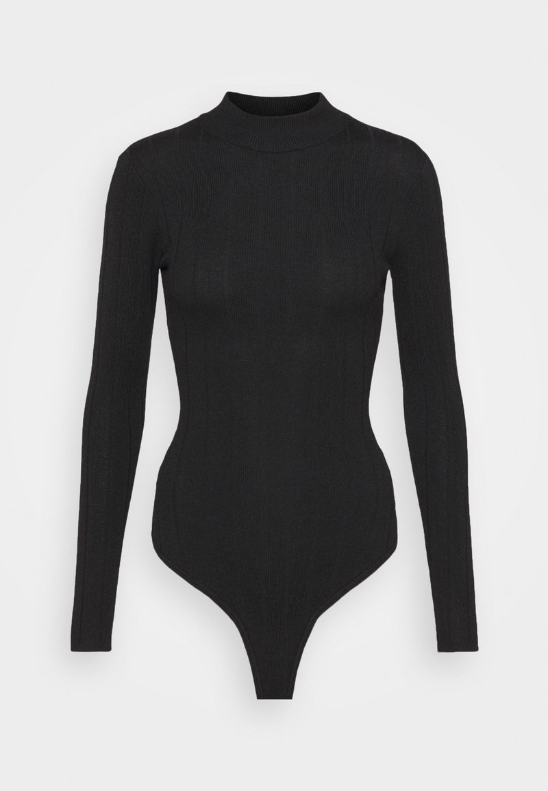 Missguided Tall - EXTREME HIGH NECK BODY - Long sleeved top - black