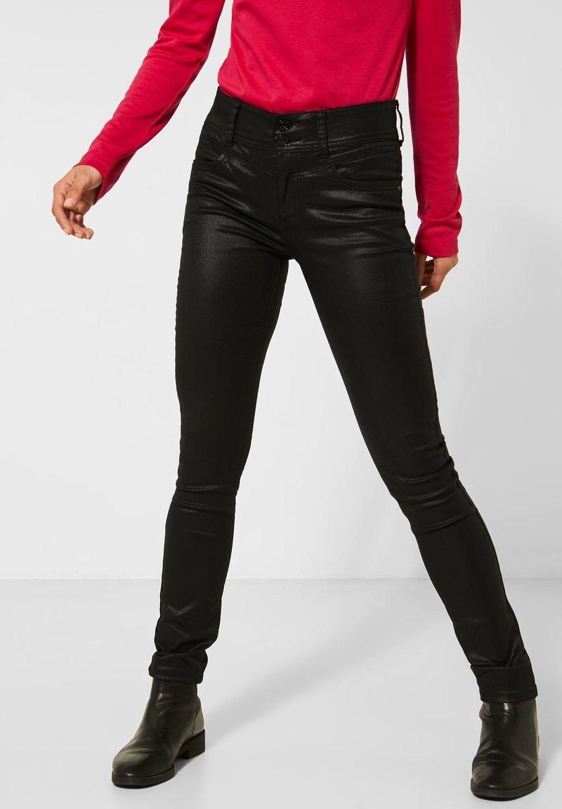 Street One - MIT COATING - Jeans Skinny Fit - schwarz