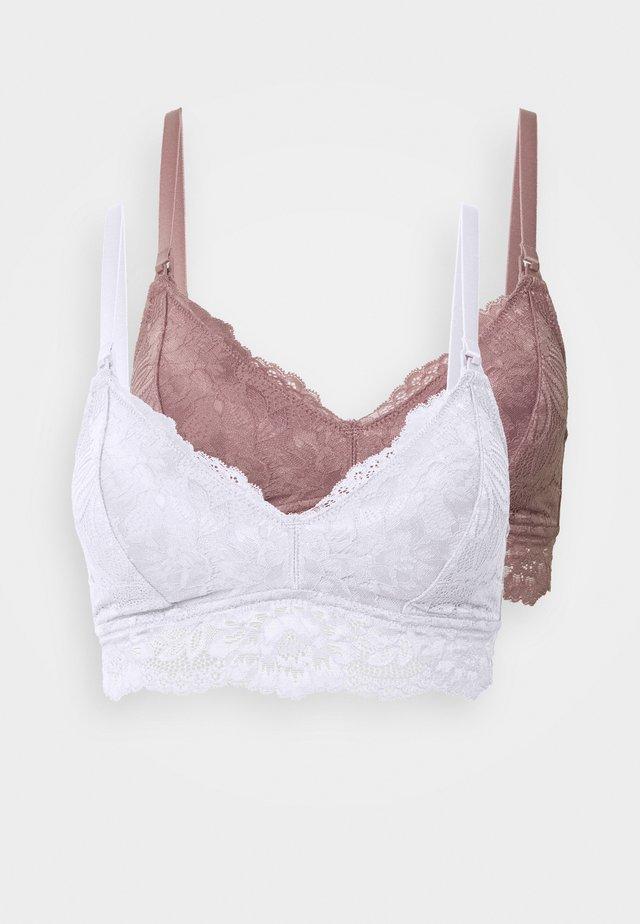 2 PACK - Triangel BH - white/pink