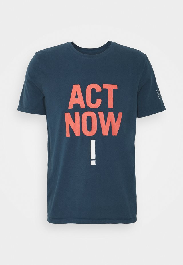 BAUME ACT NOW MAN - T-shirts print - navy