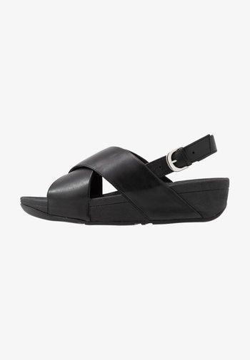 LULU CROSS BACK-STRAP - Platform sandals - black
