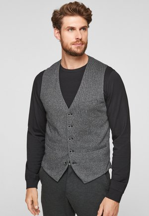 WEBMUSTER - Suit waistcoat - black melange