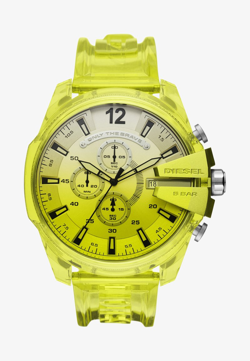 Diesel - MEGA CHIEF - Chronograph watch - yellow