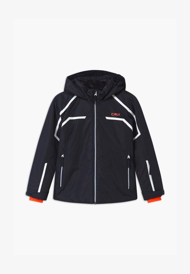 GIRL SNAPS HOOD - Ski jacket - dark blue/coral