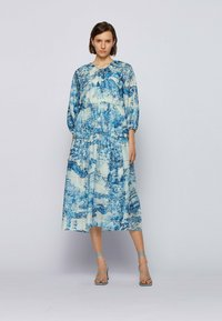 BOSS - DIVILERA - Day dress - blue, white - 1