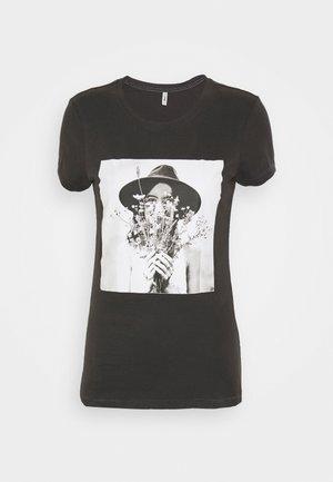 ONLELLIE LIFE BOX  - Print T-shirt - light grey