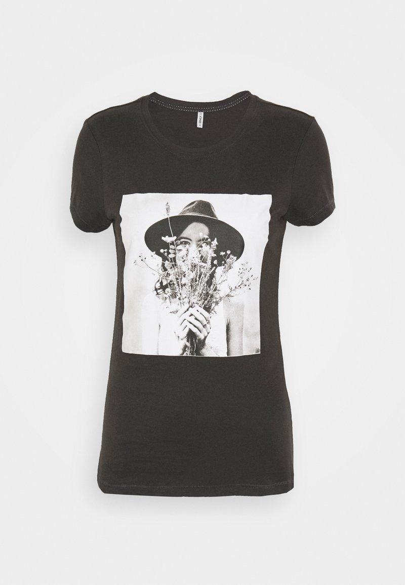 ONLY - ONLELLIE LIFE BOX  - T-shirt imprimé - light grey