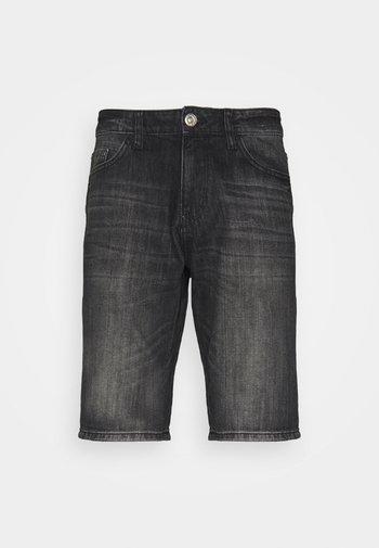 JOSH - Denim shorts - clean dark stone grey denim