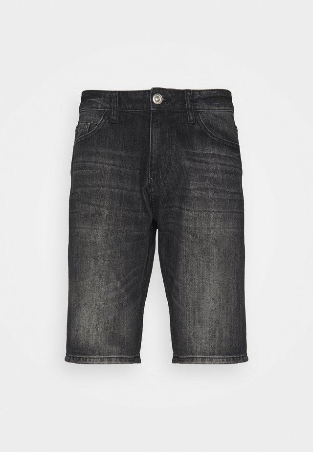 JOSH - Jeansshort - clean dark stone grey denim