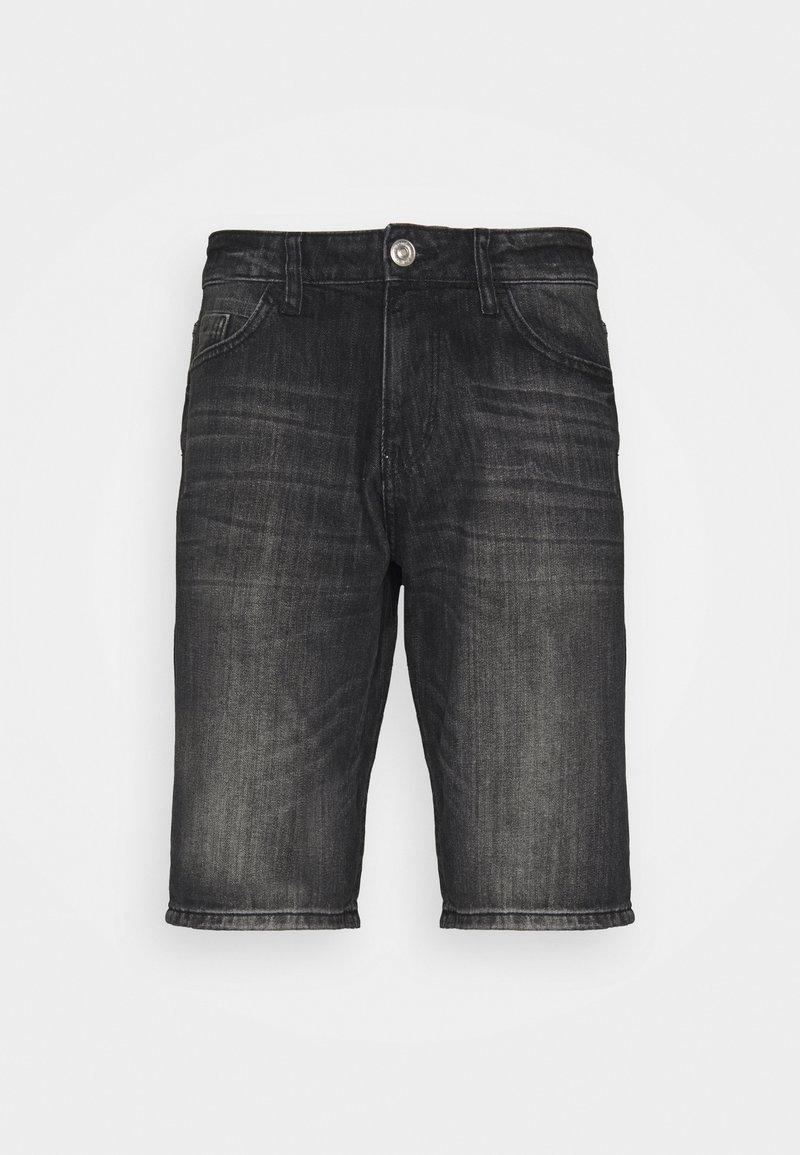 TOM TAILOR - JOSH - Denim shorts - clean dark stone grey denim