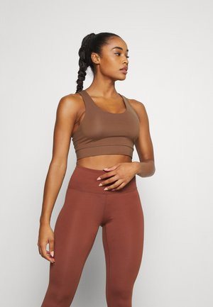 Light support sports bra - brown medium dusty