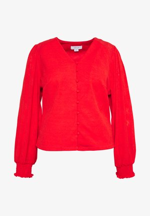 NECK BUTTON FRONT BLOUSE - Blouse - red