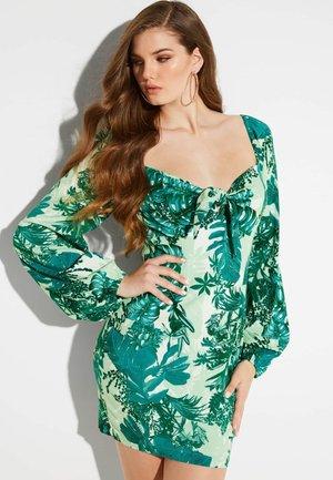 Vestido de tubo - mehrfarbig/grün