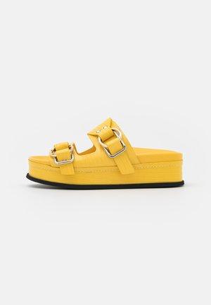FREIDA DOUBLE BUCKLE SLIDE - Pantofle - sunshine