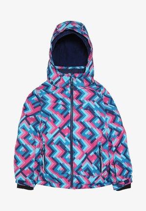 TESSIE GRID - Zimní bunda - turquoise/neon pink