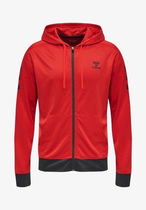 Training jacket - flame scarlet/ebony