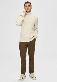 Selected Homme - Pullover - bone white - 1