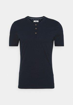 HENLEY WITH SMART DETAILS - T-paita - dark blue