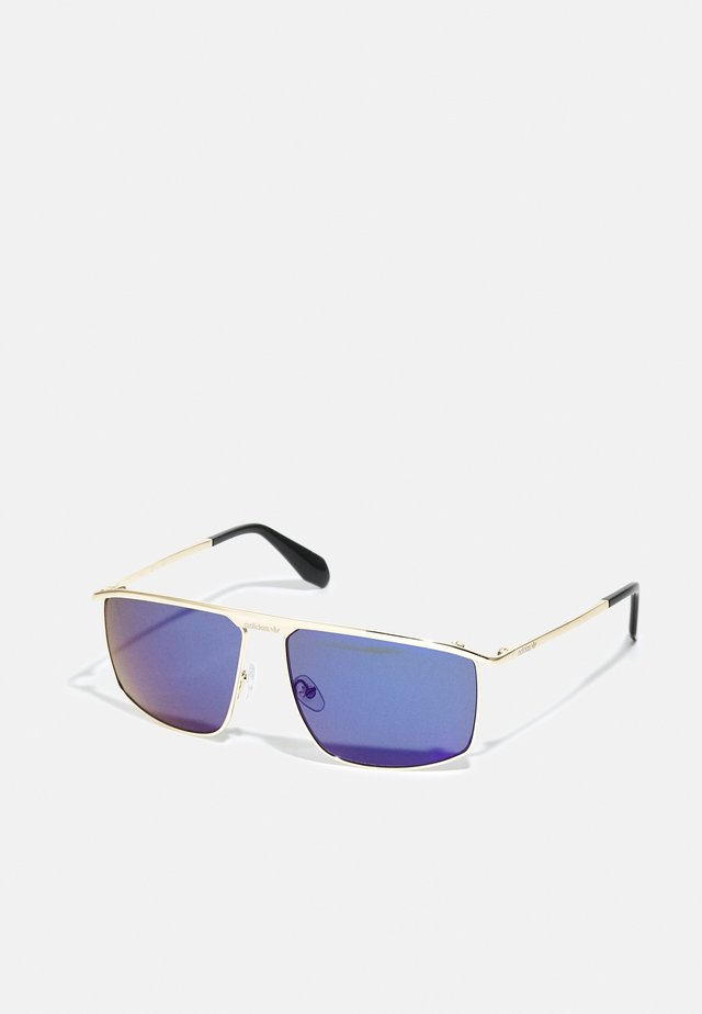 UNISEX - Sunglasses - gold/blu