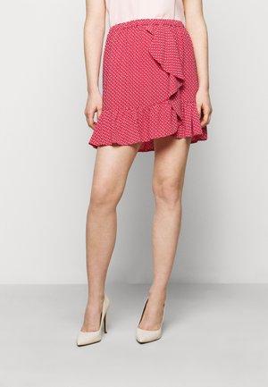 PRINTED SKIRT - Mini skirt - crimson
