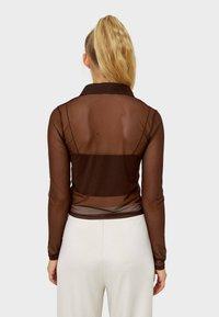 Stradivarius - Button-down blouse - brown - 2