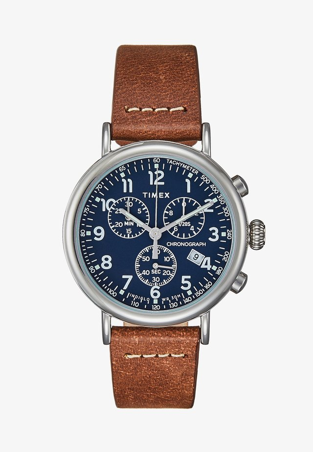 STANDARD - Chronograaf - silver-coloured/brown/blue