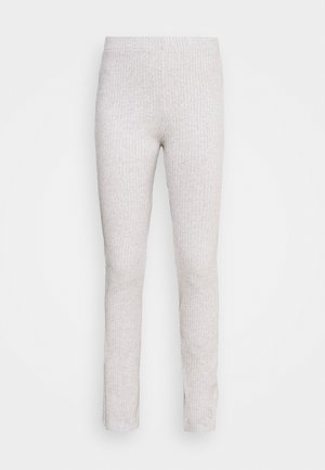BEATA TROUSERS - Trousers - grey melange